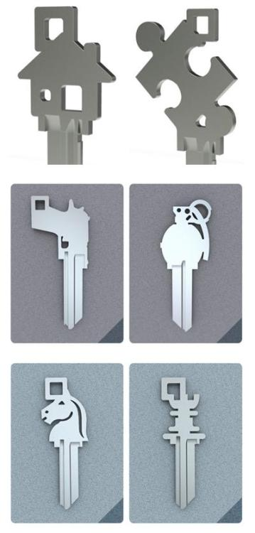A collection of cool blank key designs  by Stat Key