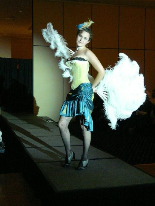 Miss Emma owned the runway at GearCon's first fashion show.  Miss Emma is another of the charming staff at Taken By the Sky submission from Laura Hagen  Steampunk beauty of the day!