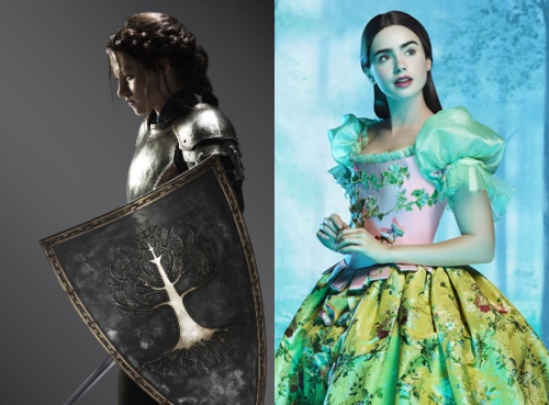 erotictransference:  First look at Snow White pics Snow White and the Huntsman, with Kristen Stewart playing the title role, and The Brothers Grimm: Snow White, in which Lily Collins takes the lead. Both films are expected to be released next year. Given the level of talent involved, I'd place my bet on Tarsem's Snow White starring Lily Collins being the better of the two films. However, given the fact that the KStew Snow White has been reported as being but the first of a trilogy, I may be proven wrong.  I'd rather this not be a competition, since any fairy tale-esque movie is a go for me, but I'd also agree that Tarsem's will be better. It doesn't help that even in the promo picture, Kristen is wearing the same exact expression she wore all through Twilight. And the promo pictures of this Snow White look terrible, even poor Chris Hemsworth.  Still, I hope to remain pleasantly surprised. For now, all I see is the simple mathematics of talent involved: Kristen Stewart and unknown director versus Tarsem, Julia Roberts, Nathan Lane, AND Sean Bean.