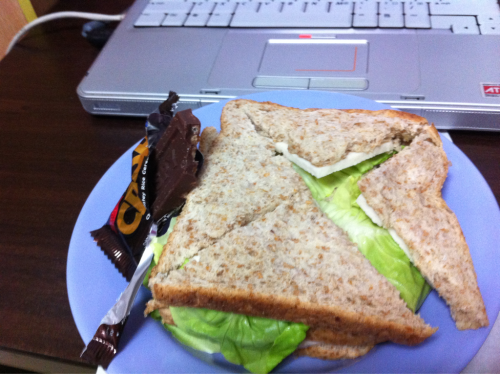 Double Ham Sandwich + Crispy Chocolate