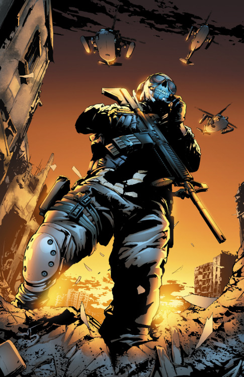 svalts:  Modern Warfare 2 - Ghost // by Federico Dallocchio ComicVine | Twitter