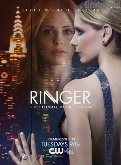"popculturebrain:  TV Key Art: Sarah Michelle Gellar's sexy new 'Ringer' ad | EW.com James Hibberd at EW asks, ""Ready to see two sides of Sarah Michelle Gellar?"" Choice words. All I can see is side boob.   Now there's something worth coming out of blog-hiatus for."