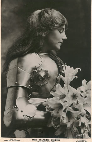 maudelynn:  ellaline terriss as  joan of arc