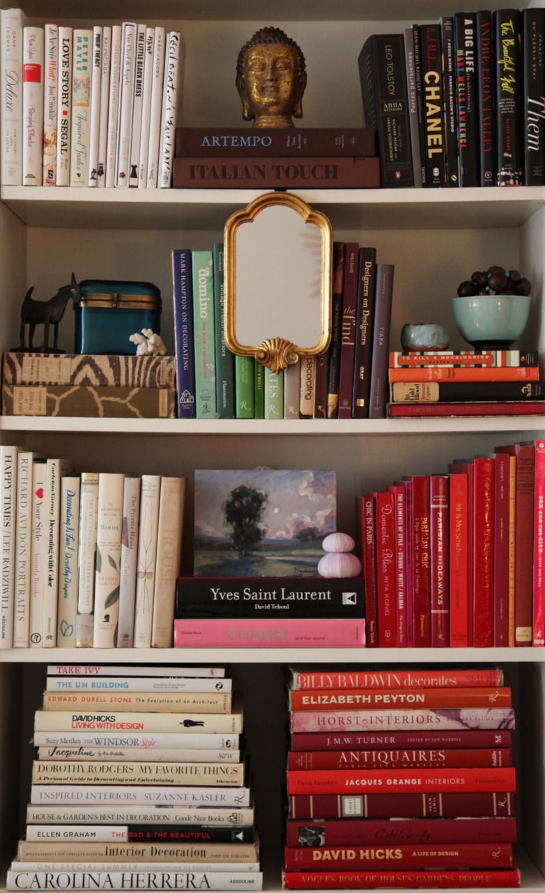 habituallychic:  My bookshelves.