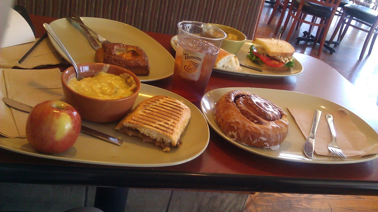 Eating at Panera with Mom is the best. ^^