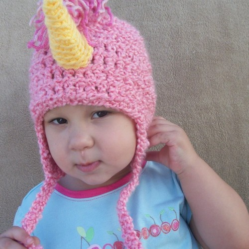 Unicorn Hat in Bubblegum Pink by pedestrian on Etsy