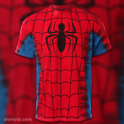 shirtoid:  Spider-Man Tie-Dye available at ThinkGeek