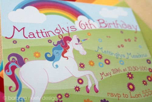 Unicorn Birthday Invitations by bndesigns on Etsy