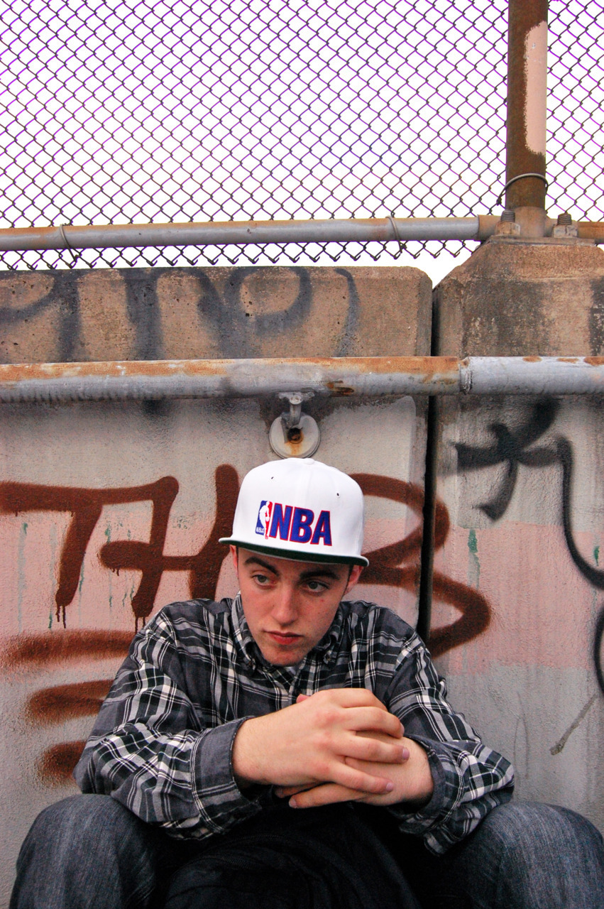 """young East Side champion"" … old photo of Mac Miller in the East End, PIttsburgh"