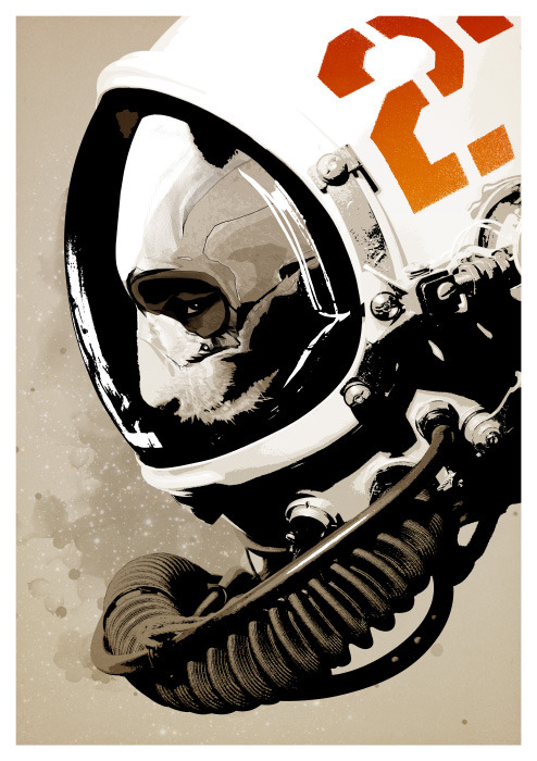 hiddenmoves:  Astro Bear - Limited edition print available here