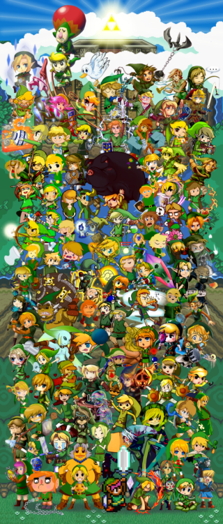 Amazing Legend of Zelda Collab Featuring Loads of Artists DeviantART user just-a-creEp managed to put together this incredible collab to celebrate the 25th anniversary of The Legend of Zelda. The collab features works from 100 different artists. Click here to see it high-res. (via: gameinformer)