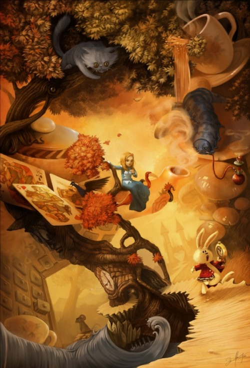 danceabletragedy:  Alice in Wonderland by David REVOY