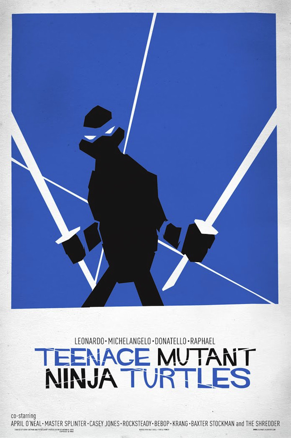Saul Bass Meets Teenage Mutant Ninja Turtles via My Modern Met