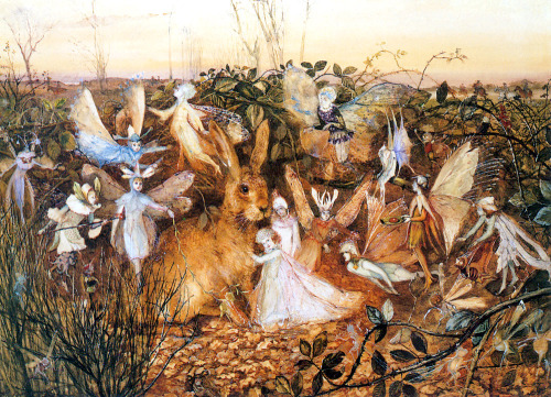 "John Anster Fitzgerald ""Rabbit Among the Fairies"" c. 1865"