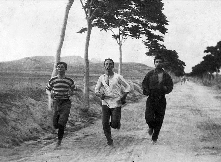 The first Olympic Marathon in the first modern Olympic Games in Athens, 1896