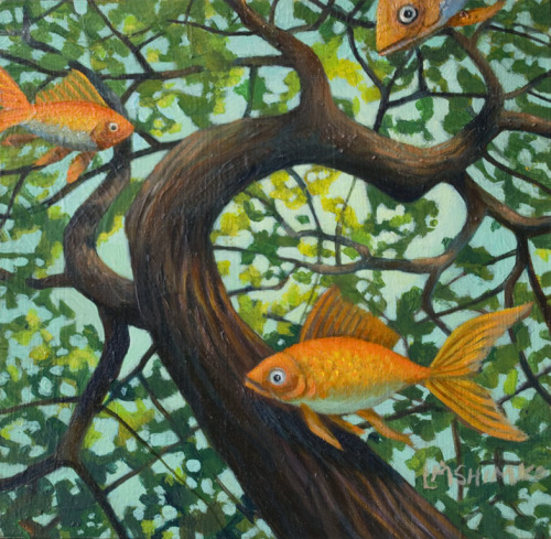 """Small Goldfish Canopy 2"" by Lisa Shimko"