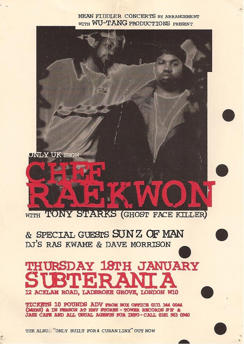 Ghostface & Raekwon Live @ Subterania London, circa 1995