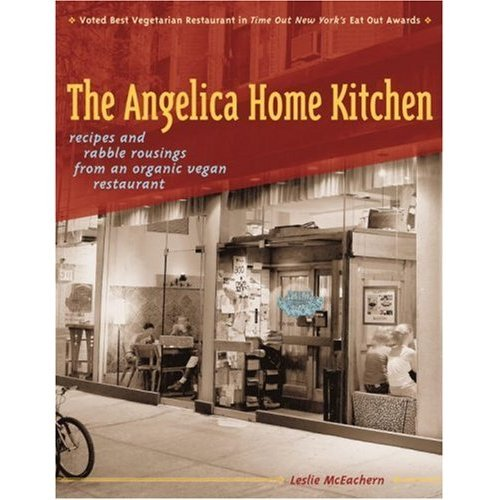 "When I visited NYC this past spring I made a stop at Angelica Kitchen for dinner and was absolutely taken over by their menu and the atmosphere. My friend was unable to meet me for dinner so I sat by myself at their ""community table"" and had a fabulous experience chatting with regulars and even got the shy woman across from me talking. It was wonderful. I bring this up because I'm heading to NYC tomorrow with my class to see the Alexander McQueen show at the Met, but I'm keeping my fingers VERY tightly crossed that I can make it to Angelica Kitchen for dinner, or lunch, or a snack, before meeting up with the same friend that evening. I picked up Leslie McEachern's (the owners) book today from the library and, of course, it doesn't disappoint."