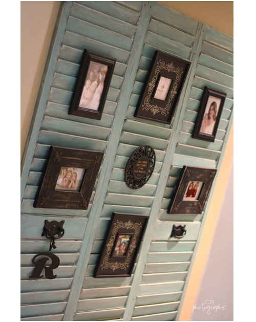 I am SO doing this!  Creative Idea of the Day: Upcycle old shutters and use them to showcase your photos! via Two Friends, Two Cities