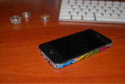 iPhone 4 sticker bomb
