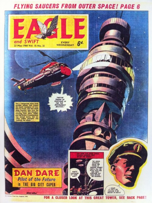 Dan Dare vs the Post Office Tower (via, via)