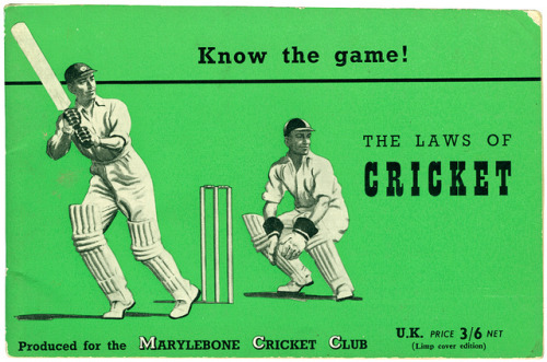 know the game - the laws of cricket by maraid on Flickr. More lovely book cover work.