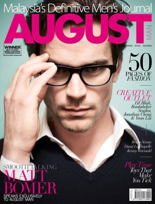 Matt Bomer (August Man, May 2011)