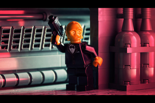 itlego:  Goldenrod -by Powerpig C3PO goes incognito as C3P007, James Bond in this awesome mash-up!  Check out more Lego creations over on Powerpig's society6 by clicking his name. Via: serialcereal