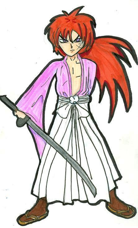 "God, isn't fan art the dweebiest?  In other news, here's ""rurouni"" Kenshin Himura…………."