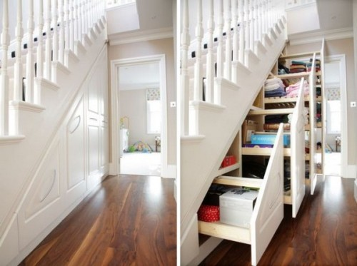 storage idea (via Practical Storage System Hidden Understairs)