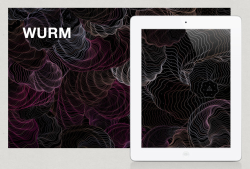 WURM App - Generative Art One of my latest addictions on my iPad is WURM for creating experimental generative art.  The developers did a fantastic job giving you patterns, colors and shapes to play with, and then you can fine tune your masterpiece with all of the controls.  WURM even has a blog setup on Tumblr (gallery.wurmapp.com) that showcases all the user submitted art.
