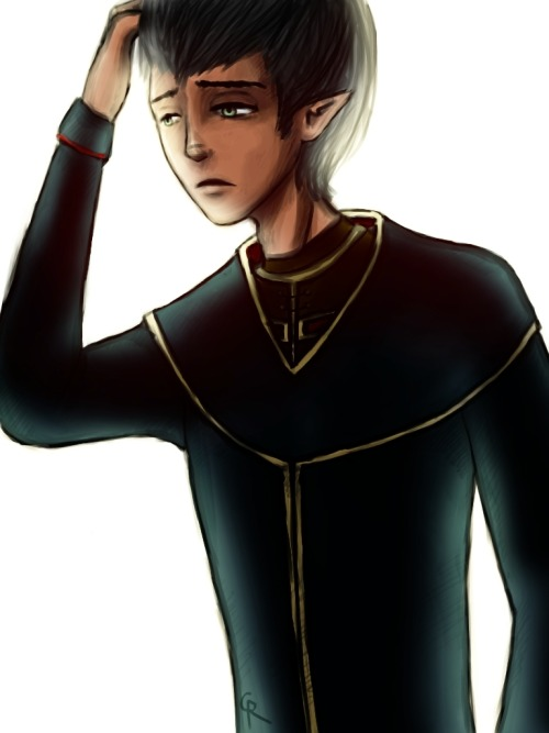 Young Orsino (Dragon Age 2), newly promoted to First Enchanter… when he knew it should not have happened and would not have happened if it wasn't for a certain someone. More teasers for my comic. I am not a comic artist. These pages are taking forever. Meredith: [link]