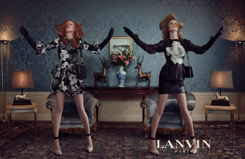 thestyleregistry:  Lanvin | Fall 2011Karen Elson and Raquel Zimmermann by Steven Meisel
