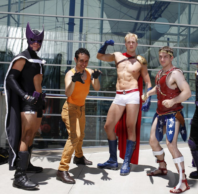 urban-bohemian:A few male cosplayers turn the tables on some well-known characters.  This needs to happen MORE!  ;)