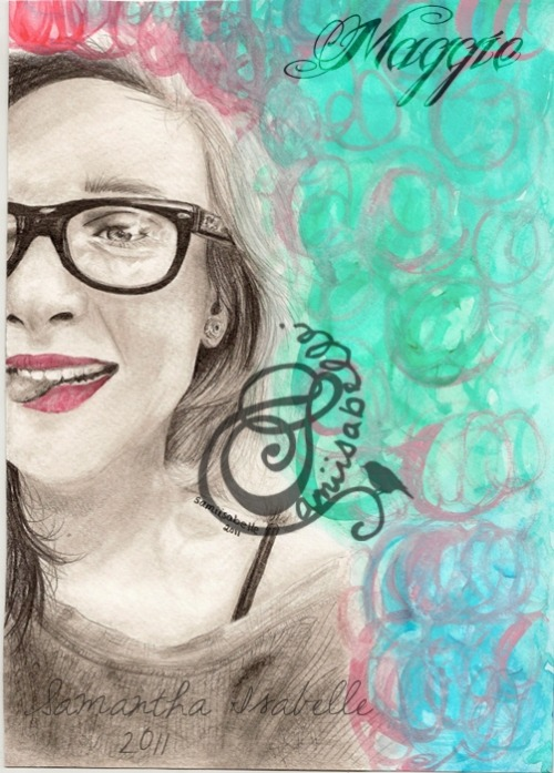 "Maggiehttp://jackbeerakat.tumblr.com/Drawn with Lumograph Pencils and Watercolor Paintson Watercolor Paper (approx 8"" x 11"")July 2011A long overdue request from a follower :) Hope you like it!-Samantha Isabelle <3"