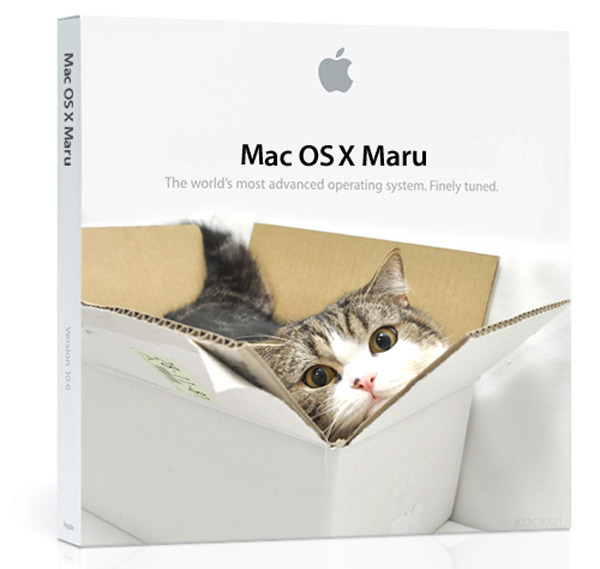 Mac OS X Maru Apple are running out of kitties to name their operating systems after. I'm with Photoshopper, Kookizu, who thinks box-loving Japanese house cat, Maru, should take the honors for 10.8.