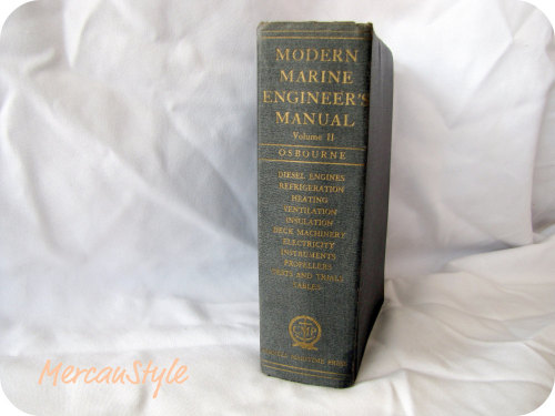 Vintage WW II Era marine engineers manual chock full of diagrams and schematics prime for framing (click the pic to view listing)