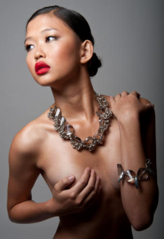 "Pink Velvet Designs ""Bella"" Necklace and Bracelet. Photography by Julia Tyrrell www.juliatyrrell.com"