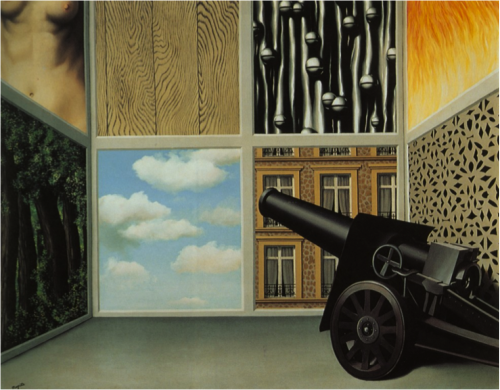 Rene Magritte, On the Threshold of Liberty. 1929.