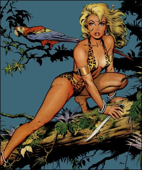 Not sure of the title, but the art is by the great Dave Stevens, creator of The Rocketeer.