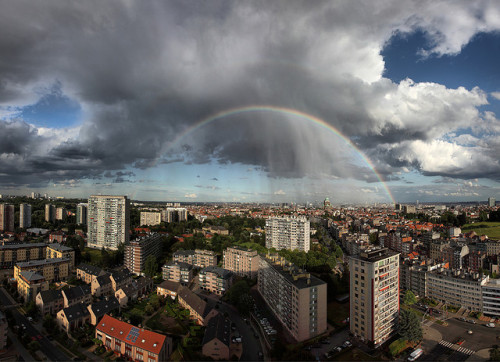 Rainbow over Brussels, Belgium by gbatistini on Flickr.
