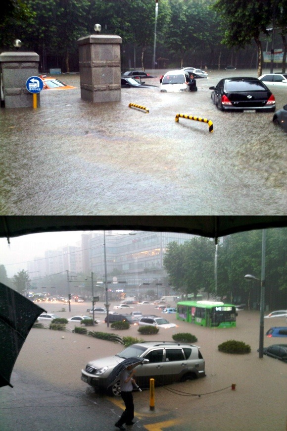 lifelovekorea:  dangoon:  South Korea  it's been almost non stop raining since yesterday. I'm supposed to meet some friends tonight in Hongdae but I'm not sure if I'm willing to go with this kind of weather!   I hope everyone's fine… I can't even contact my friends living there …