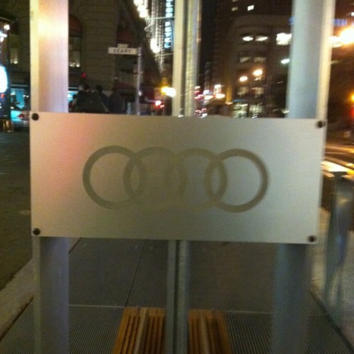 Apparently the are by Audi? #sf #citystuff #Audi  (Taken with Instagram at Powell & Geary)