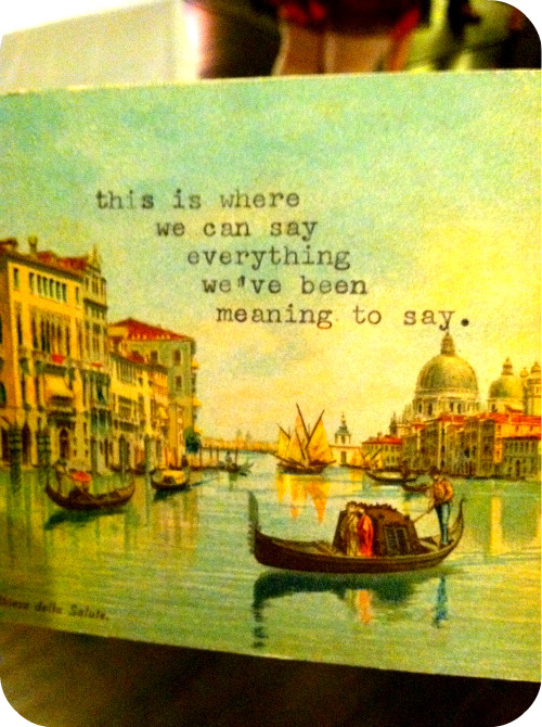 POETIC & CHIC Venice Postcard