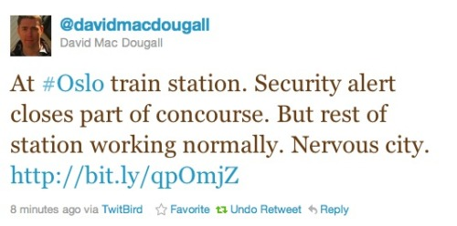 AP television reporter David Mac Dougall is reportedly at the train station that was partly shut down.