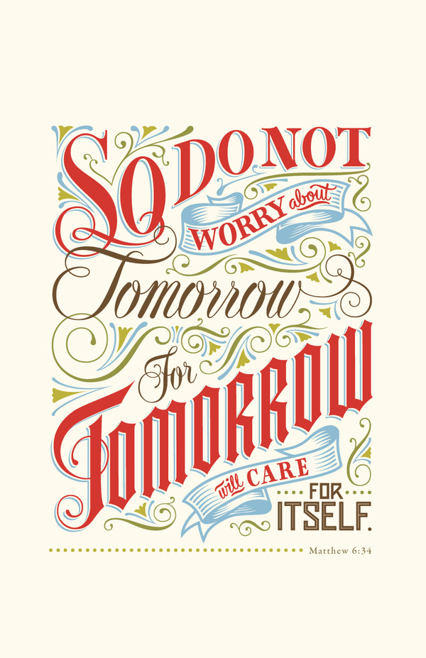 typographicverses:  Matthew 6:4 - designed by Cory Say. See the process and more of his work here.