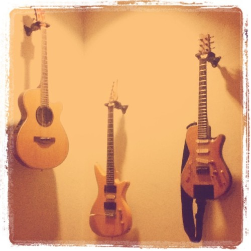 @barbiealmalbis' guitars (Taken with instagram)