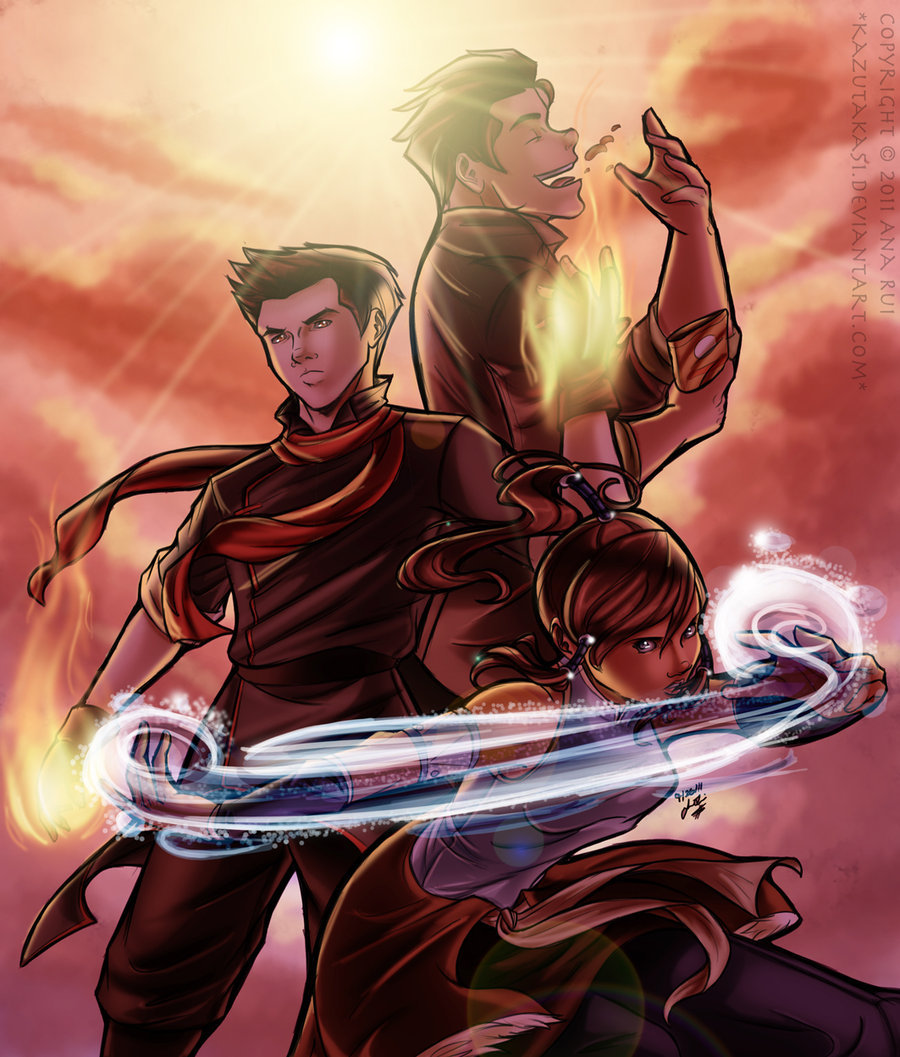 korraandmako:  Legend of Korra by Kazutaka51 This is brilliant!