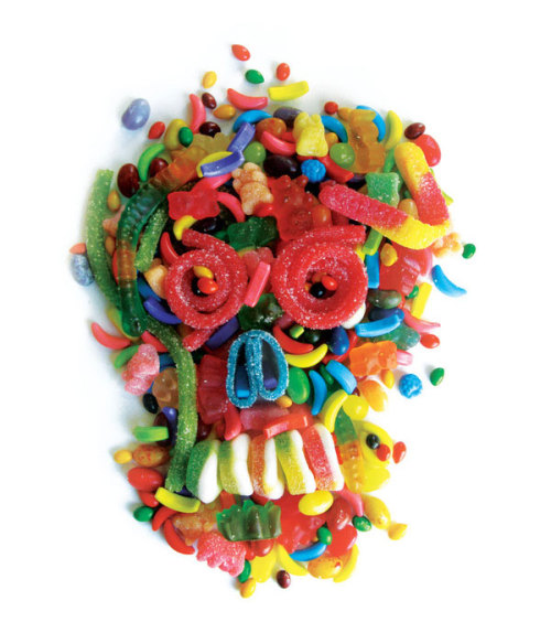Food as art. Candy will be the death of you.