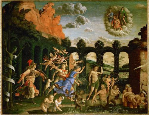 Andrea Mantegna, Pallas and the Vices (Minerva Expelling the Vices from the Garden of Virtue), 1502, oil on canvas.  Musée du Louvre, Paris